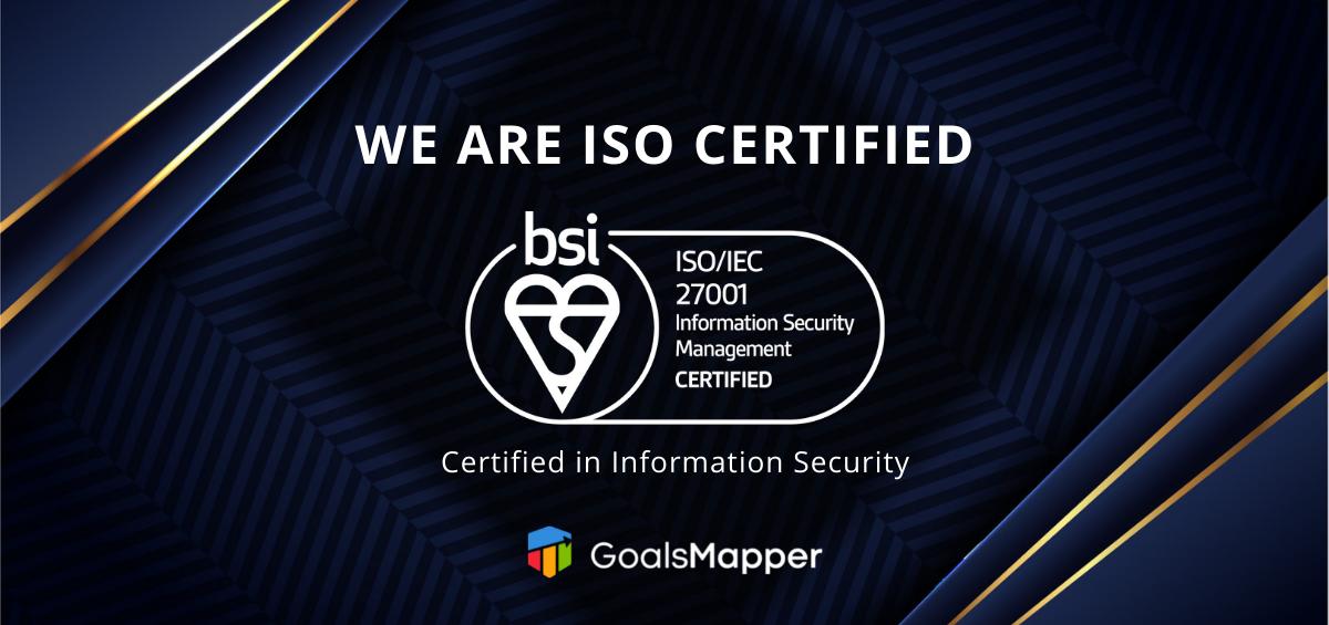 GoalsMapper is ISO certified